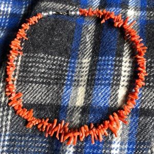 Jewelry - 🌞Vintage Red Branch Coral Choker!